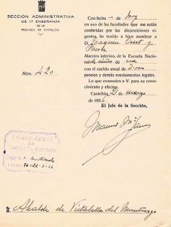 1- Maestro de Vistabella- 21-03-1936