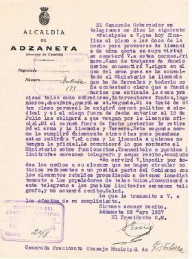 33- DESMENTIDO PACTO CON LOS REBELDES   22-5-37