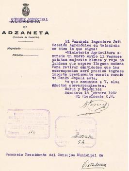 ABASTECIMIENTOS- ENVÍO DE PATATAS---18-2-37