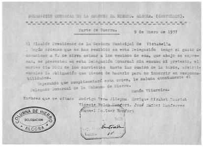 COLUMNA DE HIERRO- 9-1-37